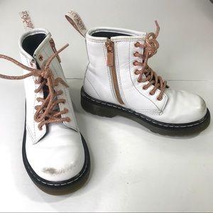 Dr Martens Airwair Girls White High Top Zip Boots